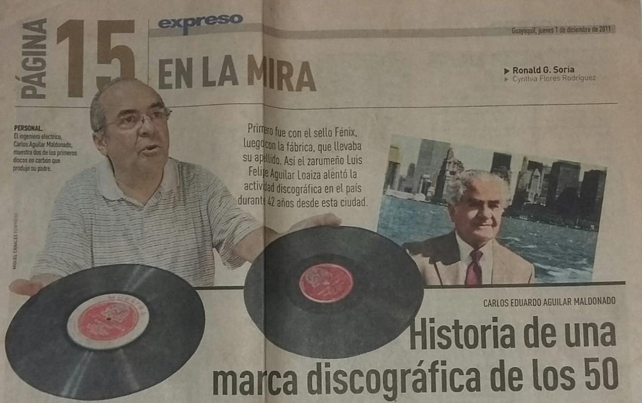 Publicacion Diario Expreso, 2011.